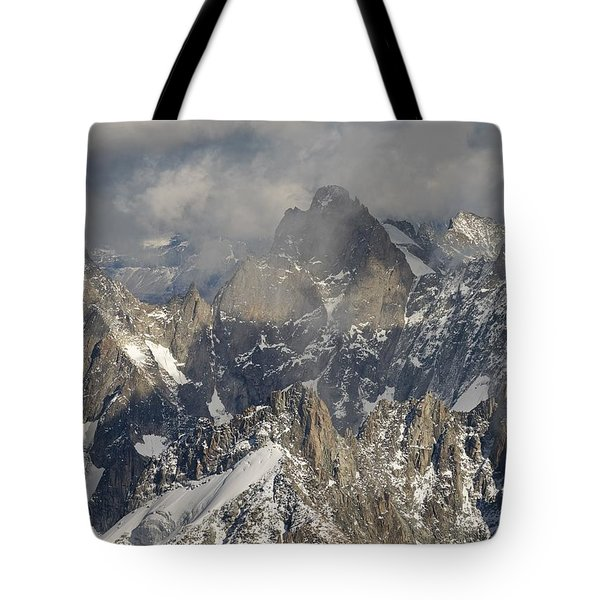 Mist And Light At Aiguille Du Midi Tote Bag