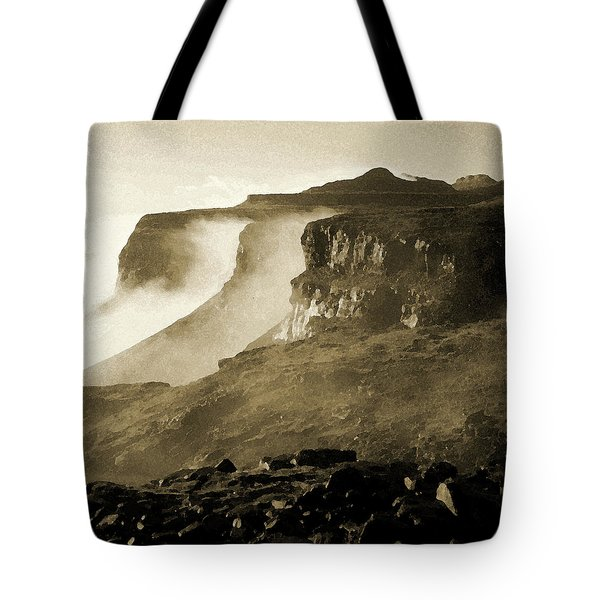 Tote Bag featuring the photograph Mist In Lesotho by Susie Rieple