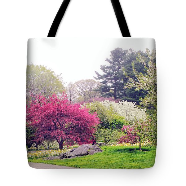Mist In The Meadow Tote Bag by Jessica Jenney