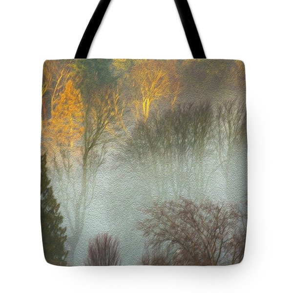 Mist In The Park Tote Bag