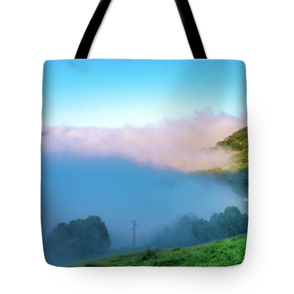 Tote Bag featuring the photograph Mist In Tineo by Fabrizio Troiani