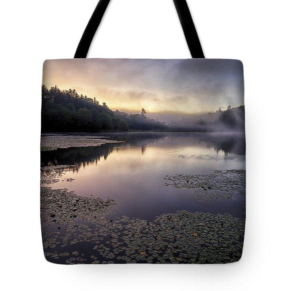 Bass Lake Sunrise - Blue Ridge Parkway Tote Bag