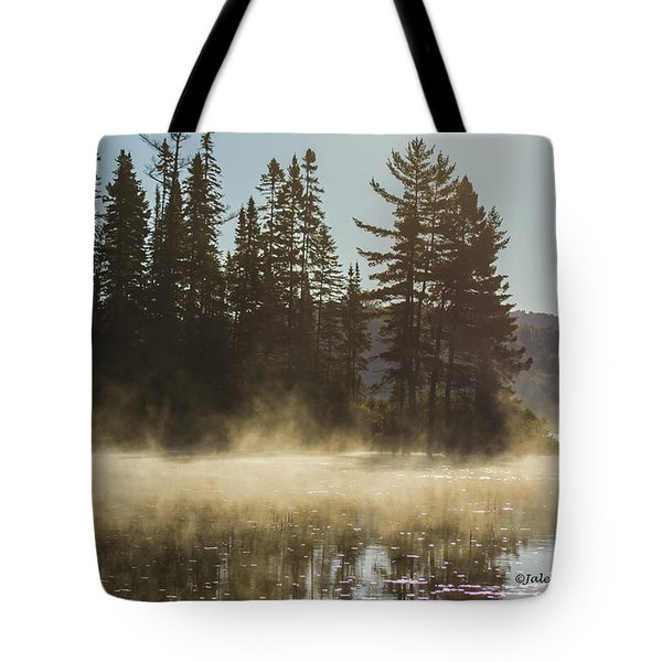 Mist On Costello Lake Tote Bag