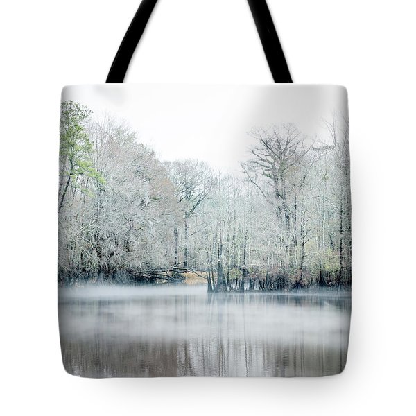 Mist On The River Tote Bag