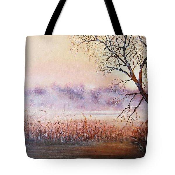 Mist On The River Tote Bag by Vesna Martinjak
