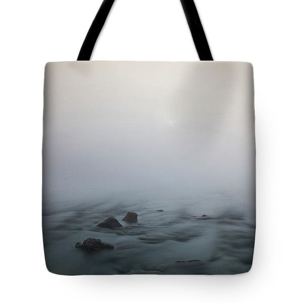 Tote Bag featuring the photograph Mist Over The Third Stone From The Sun by Davor Zerjav