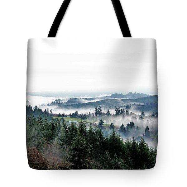 Mist Rising Tote Bag