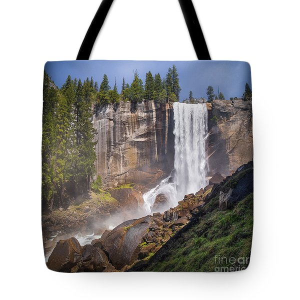 Mist Trail And Vernal Falls Tote Bag