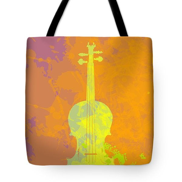 Mist Violin Tote Bag