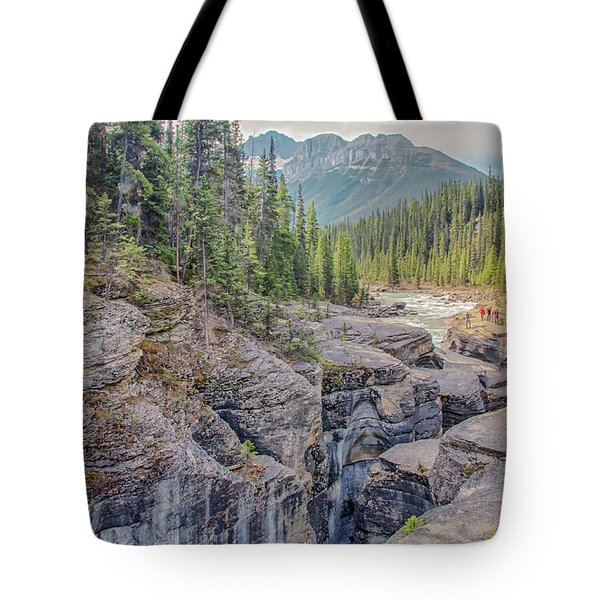 Tote Bag featuring the photograph Mistaya Canyon by Jim Dollar