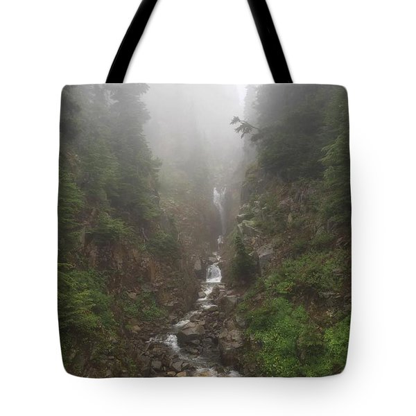 Misted Waterfall Tote Bag
