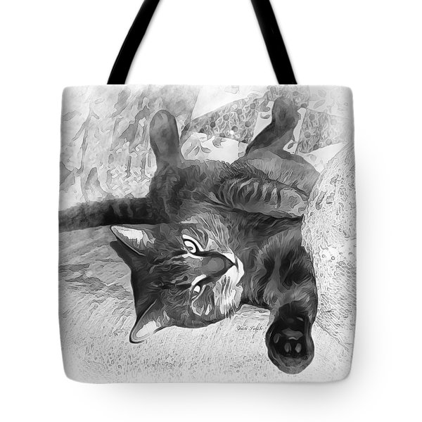 Mister Cat B And W Tote Bag