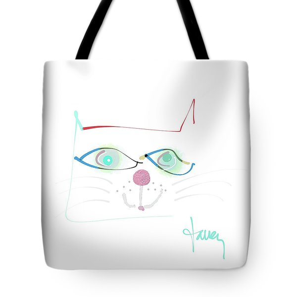 Tote Bag featuring the mixed media Mister Mischief by Larry Talley