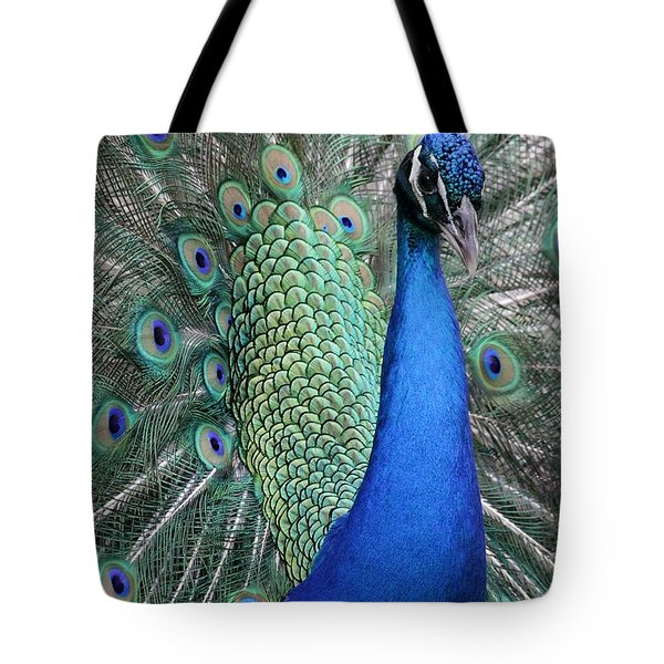 Mister Peacock Tote Bag
