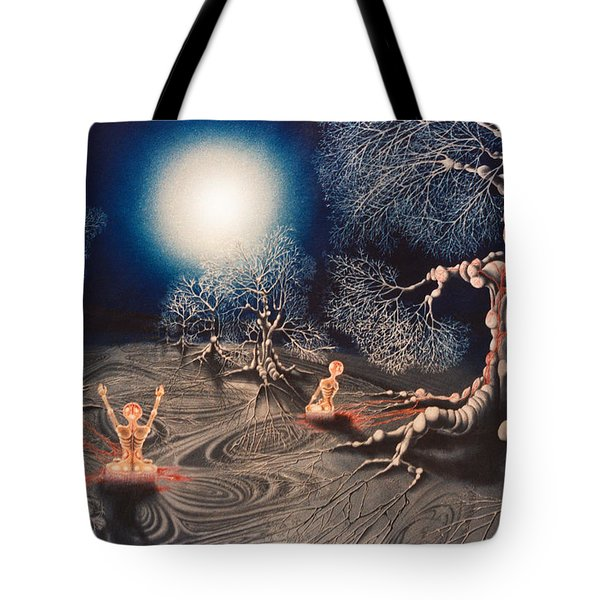 Mistery Of Cosmic Obsession Tote Bag