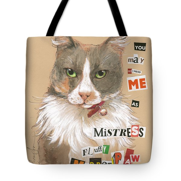 Mistress Fluffy Murderpaw Tote Bag