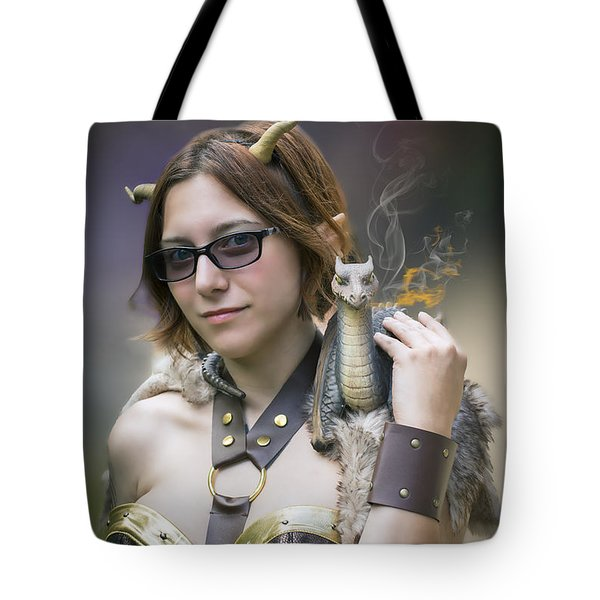 Mistress Of Dragons Tote Bag by Brian Wallace