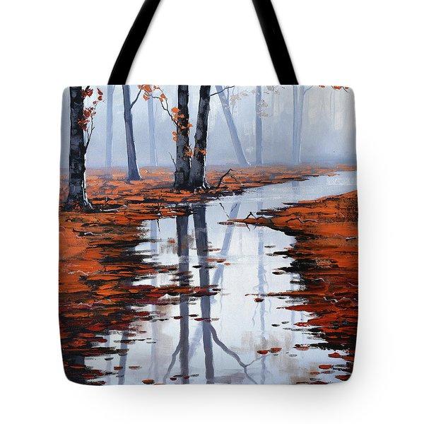 Misty Autumn Colors Tote Bag