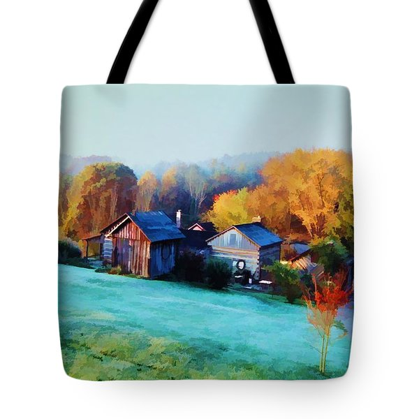 Misty Autumn Day Tote Bag by Diane Alexander