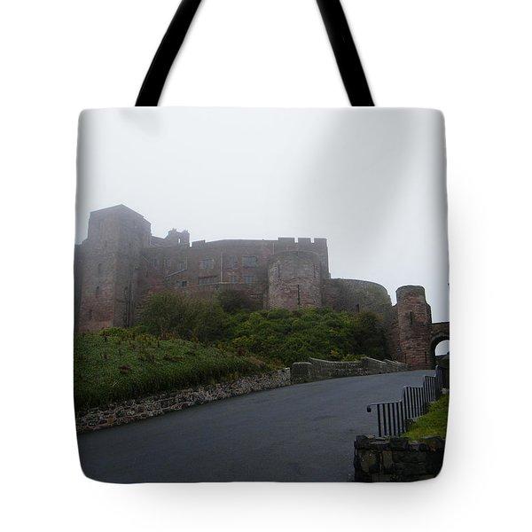 Misty Bamburgh Castle Tote Bag