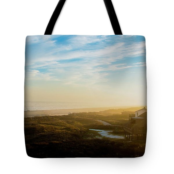 Misty Beach Tote Bag