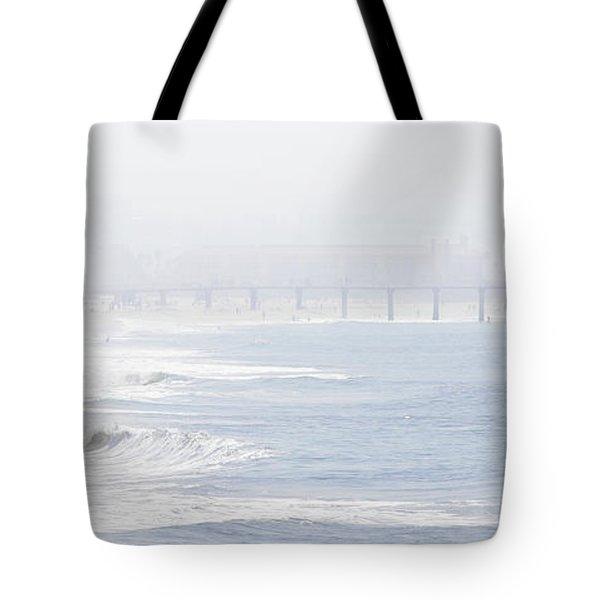 Misty Beach Morning  Tote Bag by Nicholas Burningham