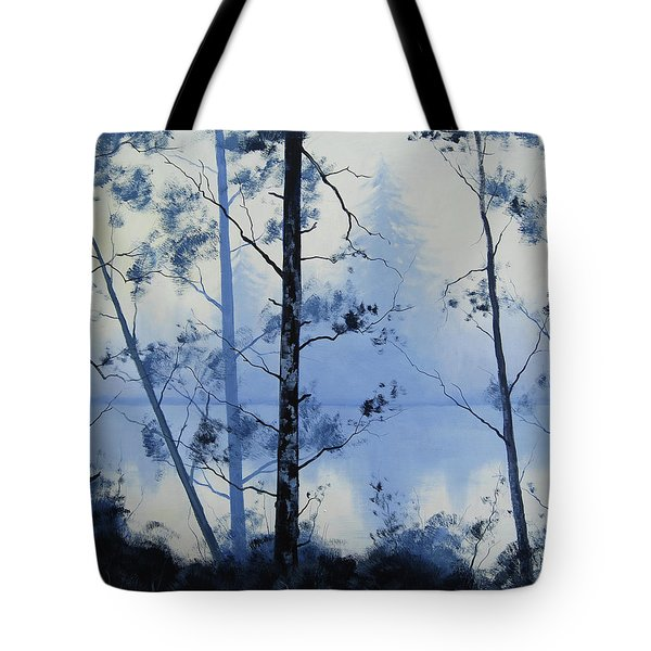 Misty Blue Lake Tote Bag
