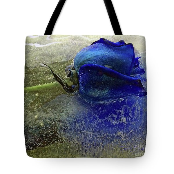 Misty Blue Tote Bag by Terry Foster