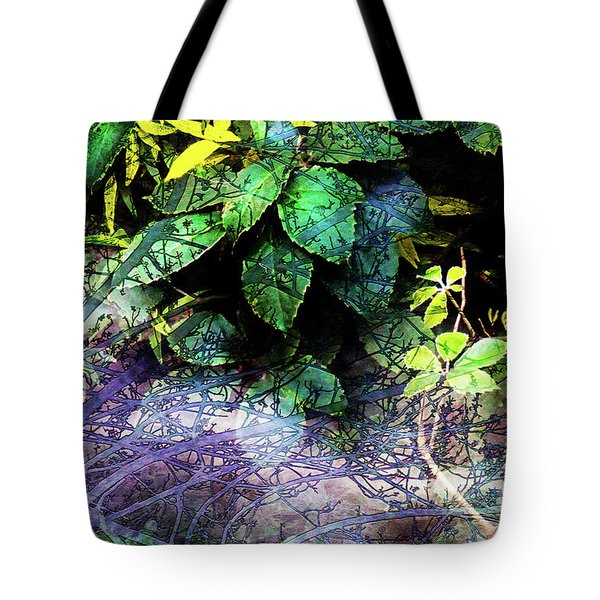 Misty Branches Tote Bag