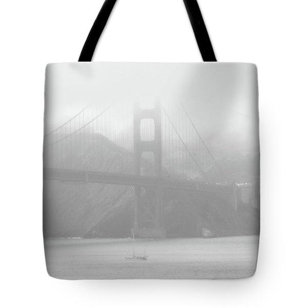 Misty Bridge Tote Bag by Donna Blackhall