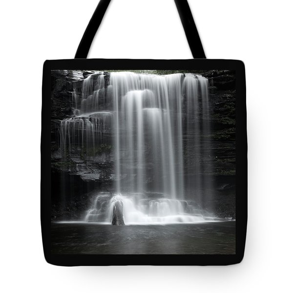 Misty Canyon Waterfall Tote Bag
