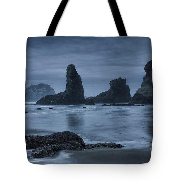 Misty Coast Tote Bag