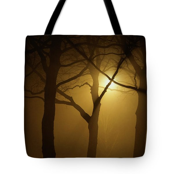 Misty Cross Tote Bag by Erik Tanghe