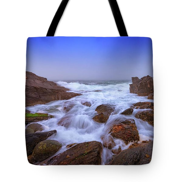 Misty Dawn At Giant's Stairs Tote Bag