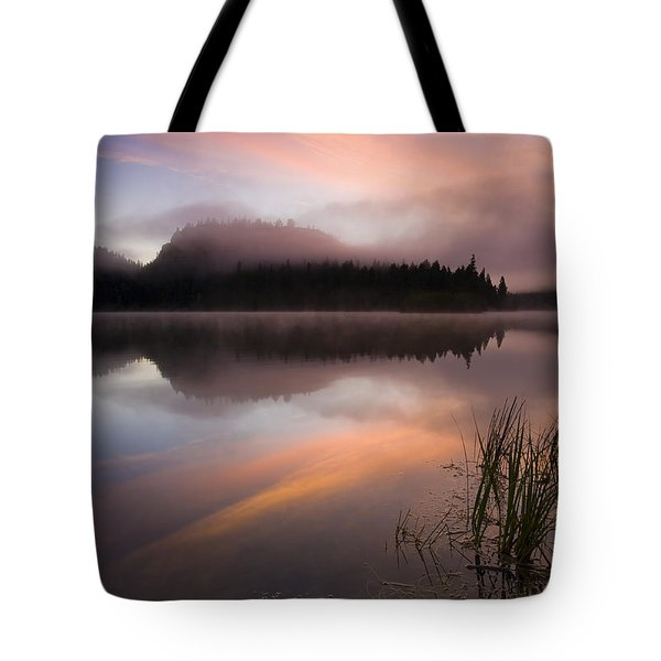 Misty Dawn Tote Bag by Mike  Dawson