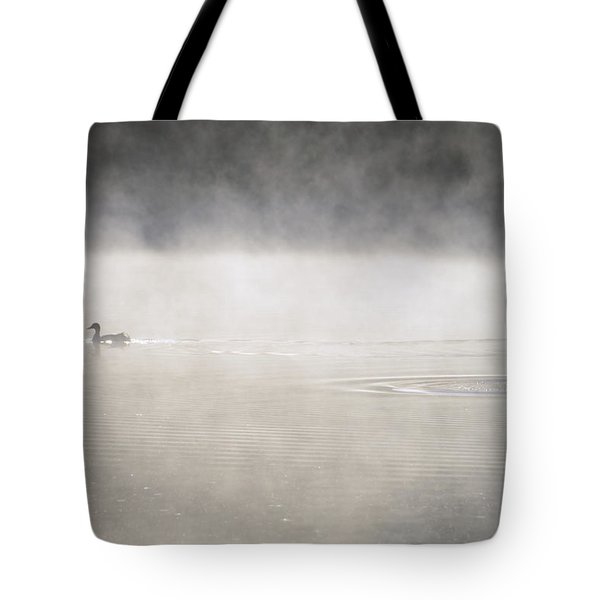 Misty Duck Tote Bag