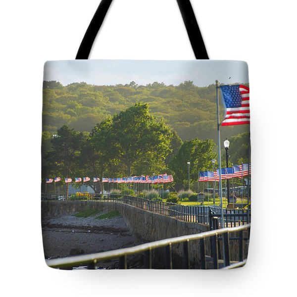Misty Flags Tote Bag
