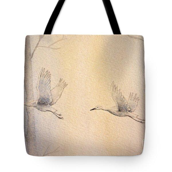 Misty Flight Tote Bag