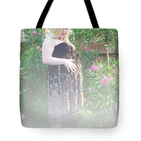 Misty Garden Pose Tote Bag