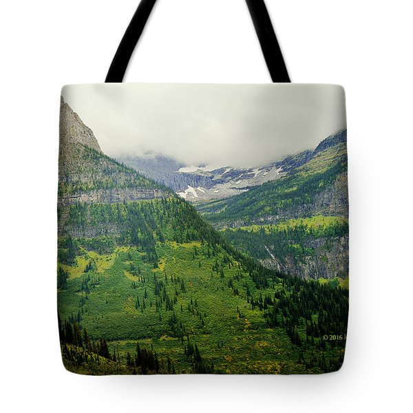 Tote Bag featuring the photograph Misty Glacier National Park View by Kae Cheatham