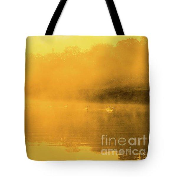 Misty Gold Tote Bag