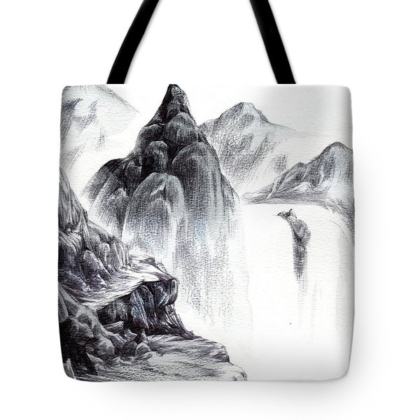 Misty Gorge Tote Bag