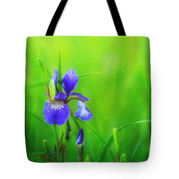 Misty Iris Tote Bag