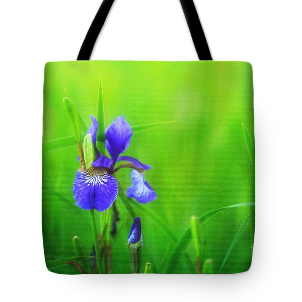 Misty Iris Tote Bag