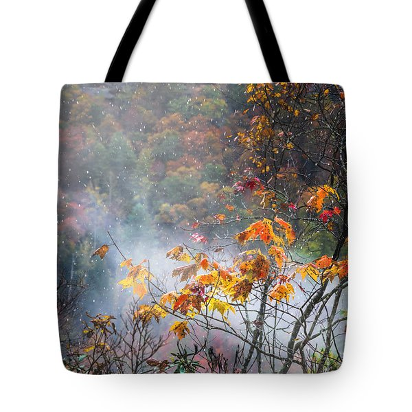 Misty Maple Tote Bag