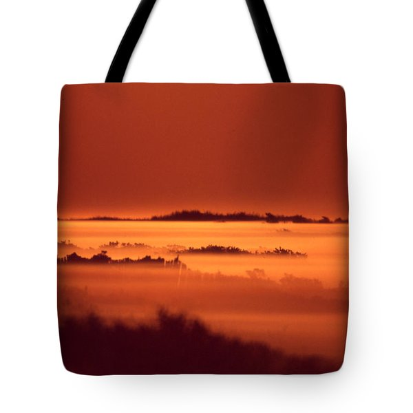 Misty Meadow At Sunrise Tote Bag