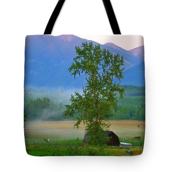 Misty Montana Evening Tote Bag