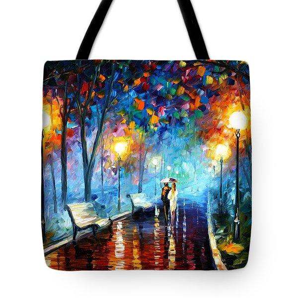 Misty Mood Tote Bag by Leonid Afremov