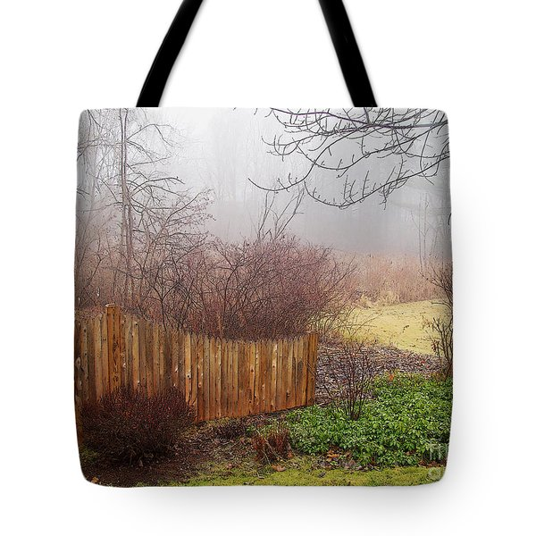 Misty Morn Tote Bag by Betsy Zimmerli