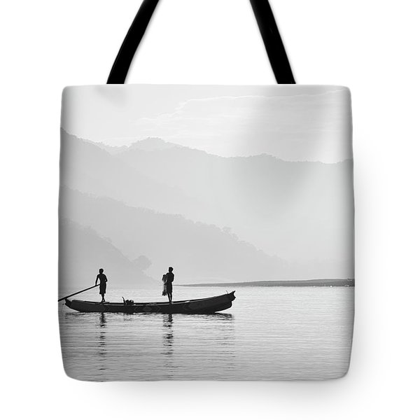 Misty Morning 3 Tote Bag